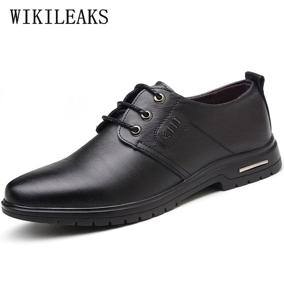 black business formal derby shoes men zapatos hombre mens dress shoes leather wedding oxford shoes - Beltran's Enterprise