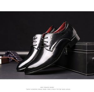 men shoes oxford brogue leather shoes super large 48 size wedding dress shoes zapatos - Beltran's Enterprise