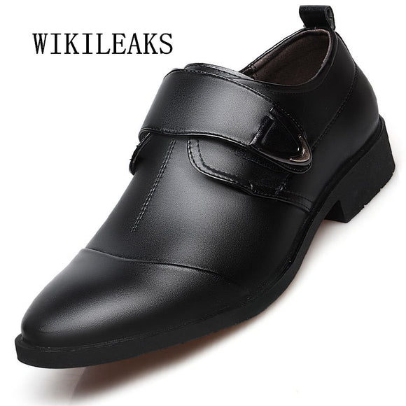 2018 new men shoes pointed toe wedding dress shoes men leather black oxford shoes for men - Beltran's Enterprise