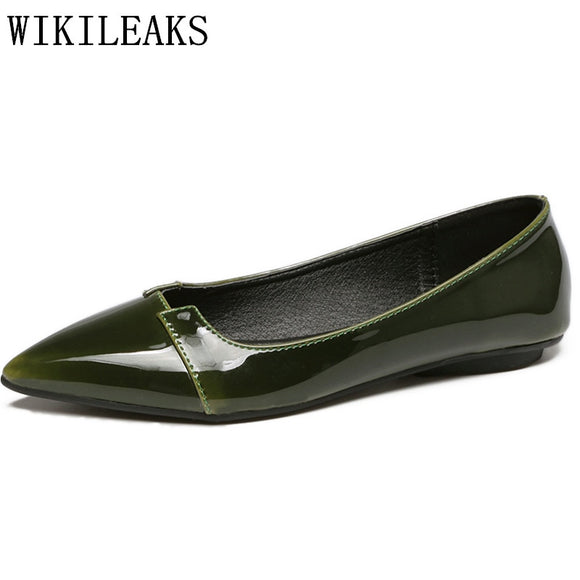 zapatos de mujer de moda 2018 designer ladies leather shoes women flats slip on shoes - Beltran's Enterprise