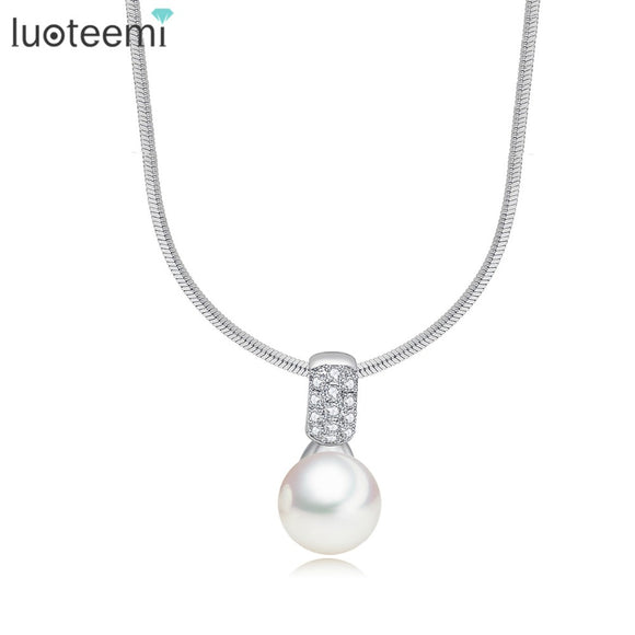 LUOTEEMI New High Quality Imitation Pearl Pendant Wedding Jewelry - Beltran's Enterprise