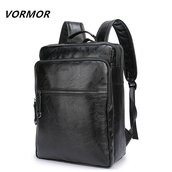 2018 VORMOR Brand waterproof 15.6 inch laptop backpack men PU leather backpacks for teenager Men - Beltran's Enterprise