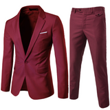 new plus size 6xl mens suits wedding groom good quality casual male suits 2 peiece (jacket+pant) - Beltran's Enterprise