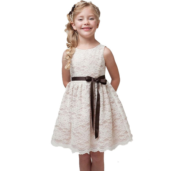 Baby Girl Tunic Dress Lace Princess Dress Outfits Children Clothing Girls 4-10 Years Little Kids - Beltran's Enterprise