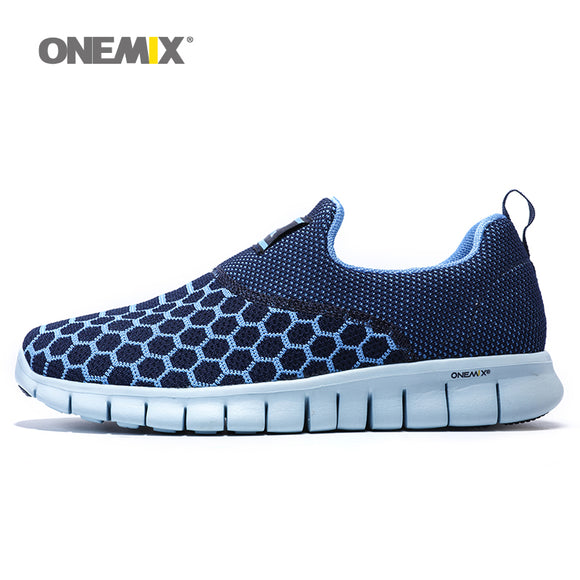 Onemix mens running shoes breathable outdoor women walking shoes massage male sport - Beltran's Enterprise