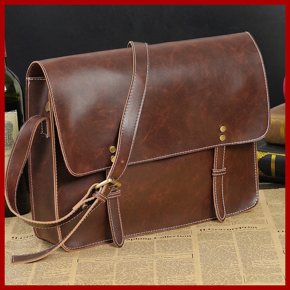 Vintage Bag high-grade leather men messenger bags men's briefcase bolsas retro shoulder bag - Beltran's Enterprise