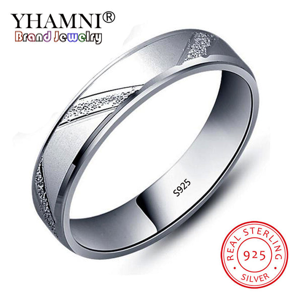 YHAMNI 100% Silver Wedding Rings for Men and Women 925 Sterling Silver Jewelry Unique - Beltran's Enterprise