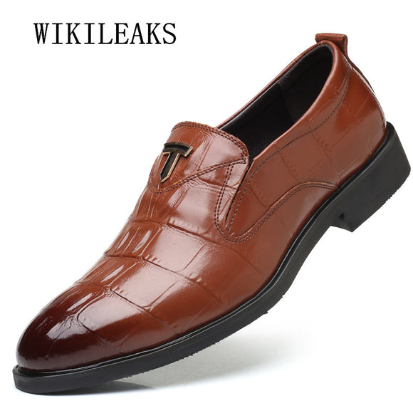 2018 big size men shoes oxford shoes for mens formal mariage wedding shoes zapatos hombre business dress shoes - Beltran's Enterprise