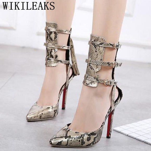 women shoes extreme high heels gladiator sandals designer shoes women luxury 2018 - Beltran's Enterprise