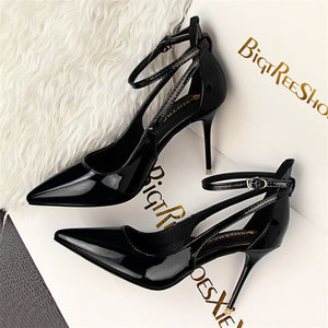 Patent Leather red  high heels sandals women bigtree wedding shoes zapatos mujer tacon - Beltran's Enterprise