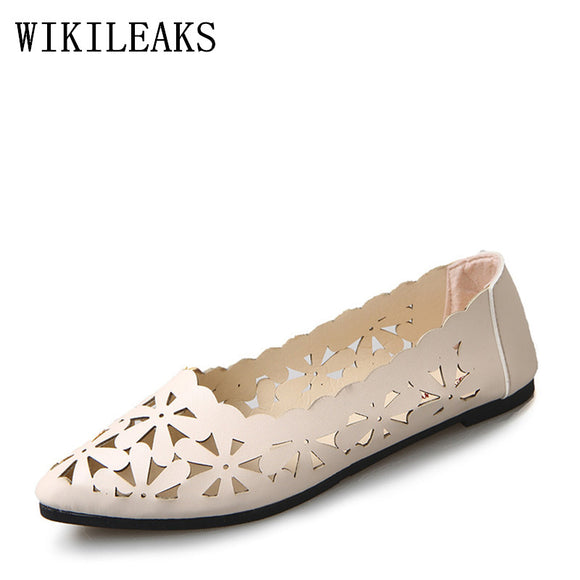 Women Sandals Summer Shoes 2018 New Female Fashion Split Leather Hollow - Beltran's Enterprise