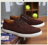large sizes men shoes suede leather shoes men casual zapatos leather stitching sneakers sapato - Beltran's Enterprise