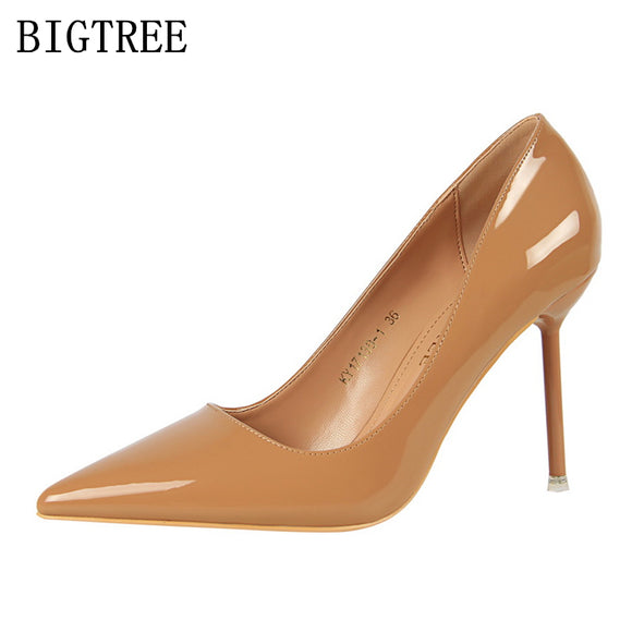 Bigtree shoes woman pumps ladies extreme high heels designer shoes women luxury 2018 - Beltran's Enterprise