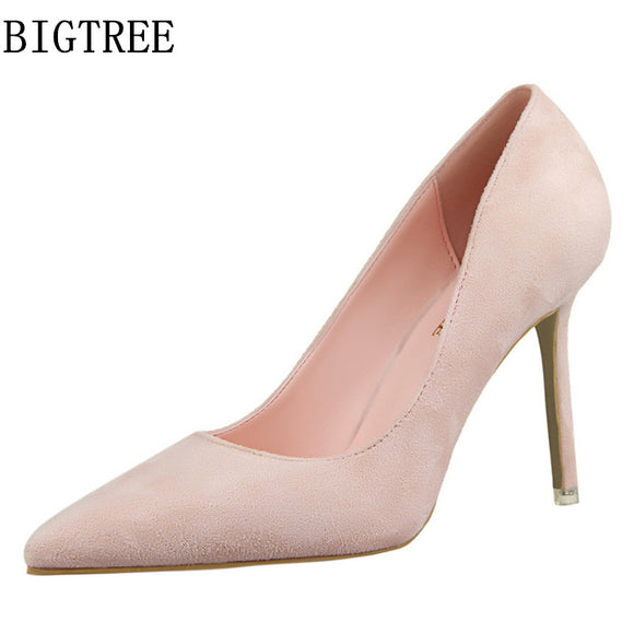 High heels women designer bigtree shoes luxury 2018 brand lady wedding shoes bridal stiletto shoes - Beltran's Enterprise