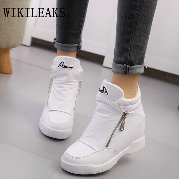 luxury brand womens shoes platform shoes tenis feminino zapatillas mujer casual basket femme - Beltran's Enterprise