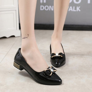 slip on shoes for women 2018 spring pointed toe flats butterfly-knot women shoes - Beltran's Enterprise