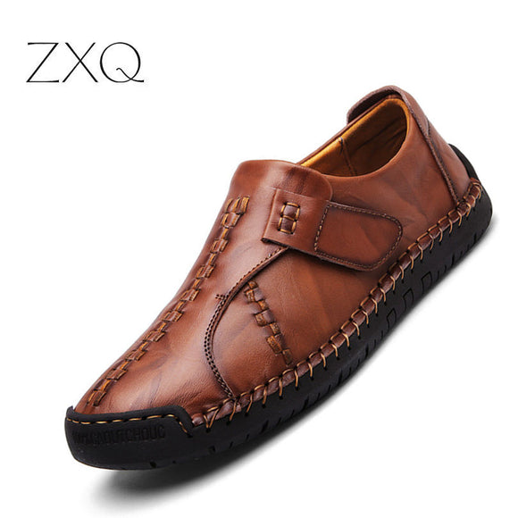New Design Vintage Genuine Leather Men Shoes Handmade Fashion Casual Leather Oxfords Moccasins - Beltran's Enterprise