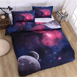 Solstice Textile 3D Universe Galaxy Stars 4pcs Bedding Sets Active Dyeing Process Bedclothes - Beltran's Enterprise