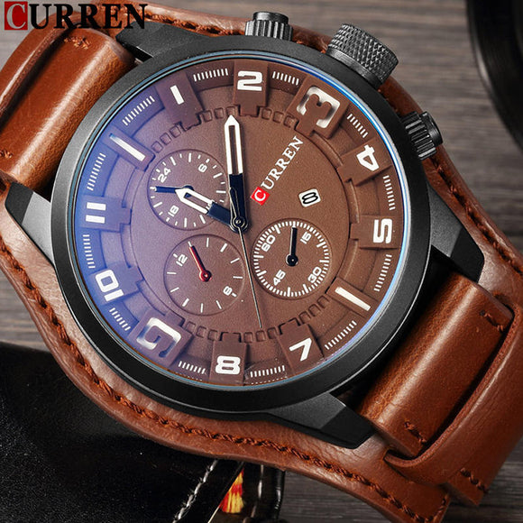 CURREN Top Brand Luxury Mens Watch Men Watches Male Casual Quartz Wristwatch - Beltran's Enterprise