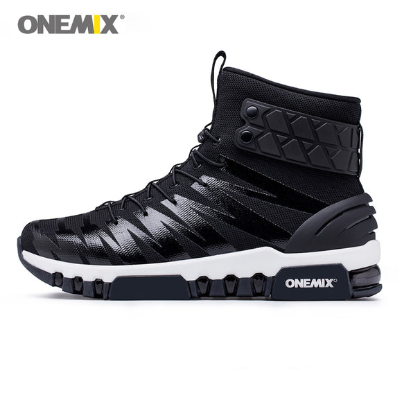 ONEMIX men boots running shoes for women sneakers high top boots for outdoor - Beltran's Enterprise