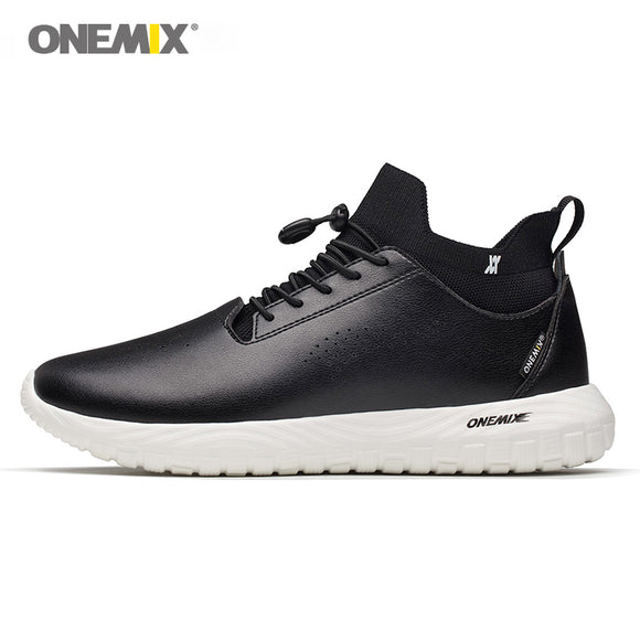 ONEMIX 2018 men leather shoes 3 in 1 set shoes top grade outdoor women sneakers soft micro fabric - Beltran's Enterprise