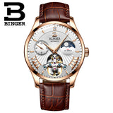 Switzerland Mechanical Watch Men Binger Role Luxury Brand Men Watches Skeleton Wrist Sapphire - Beltran's Enterprise