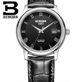 Switzerland BINGER watches men luxury brand Mechanical Wristwatches sapphire full stainless - Beltran's Enterprise