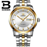 Switzerland watches men luxury brand BINGER business Mechanical Wristwatches full stainless - Beltran's Enterprise