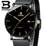 Switzerland BINGER Mens Watches Luxury Brand automatic mechanical Men Watch Sapphire - Beltran's Enterprise