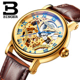 Switzerland luxury men's watche BINGER brand Hollow Out Mechanical  Wristwatches sapphire - Beltran's Enterprise