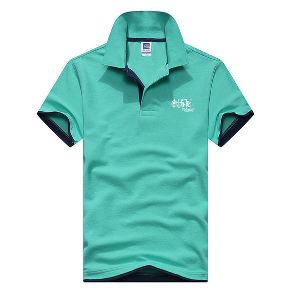 New Brand Polos Mens Printed POLO Shirts Cotton Short Sleeve Camisas Polo Casual Stand Collar - Beltran's Enterprise