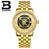 Switzerland BINGER Mens Watches Brand Luxury Watch Automatic Mechanical Men Watch Sapphire - Beltran's Enterprise