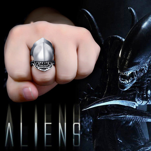 BEIER Movie Stainless steel Alien battle Predator Shark Animal  ring Men Fashion - Beltran's Enterprise