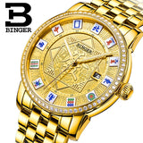 Switzerland BINGER Mens Watches Brand Luxury Watch Automatic Mechanical Men Watch Sapphire Wrist Watch Male reloj hombre B5055-5 - Beltran's Enterprise