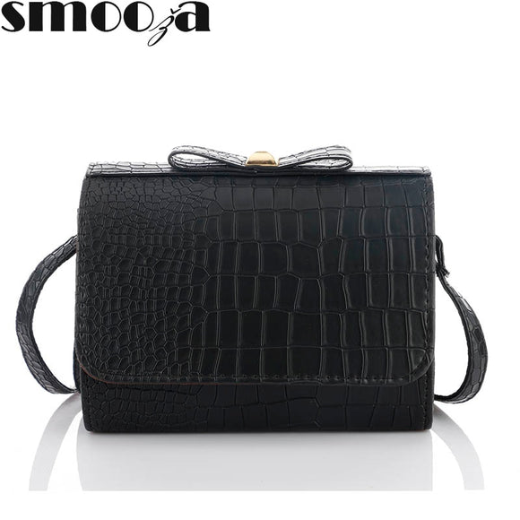 SMOOZA bow women messenger bags Mini alligator handbags new fashion clutches - Beltran's Enterprise