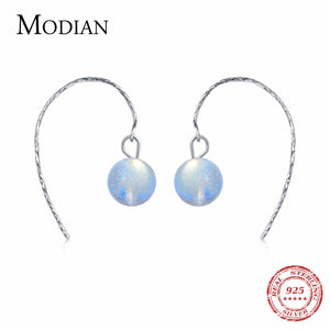 2018 Hot Selling 925 sterling silver jewelry Drop Earrings 100% real Natural Moonlight earrings - Beltran's Enterprise