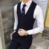 LEFT ROM 2018 Male Autumn Fashion business stripe Long sleeve high quality wedding dress - Beltran's Enterprise