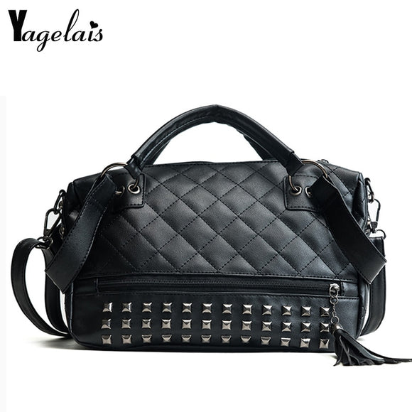 New Fashion Rivet Design Shoulder Handbag Female Mini Travel Bag Girl/Women Messenger Bags - Beltran's Enterprise