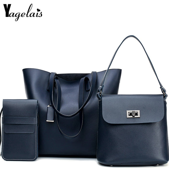 New Fashion 3 Sets Handbag Women Composite Bag Female Large Capacity Tote Bag Fashion - Beltran's Enterprise