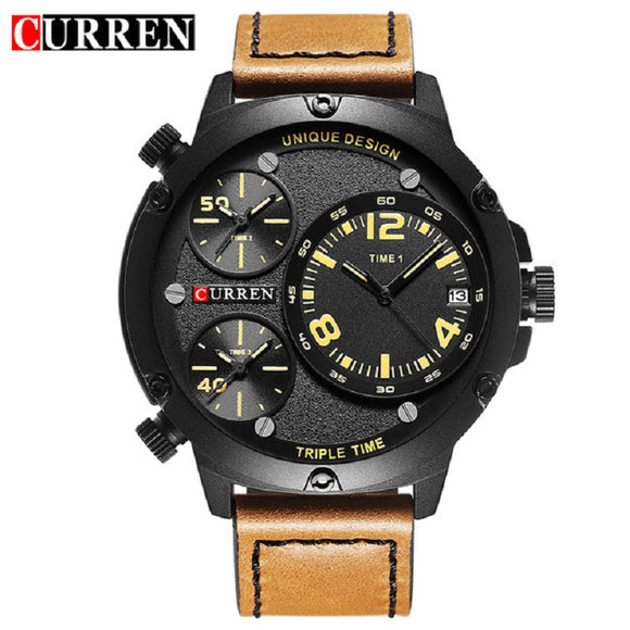 New CURREN Men Watches Luxury Casual Men Watches Men Analog Military Sports - Beltran's Enterprise