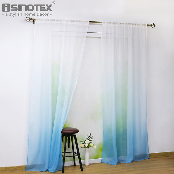 7 Color Window Curtain Living Room Modern Gradient Voile Sheer Drapes For Kitchen - Beltran's Enterprise