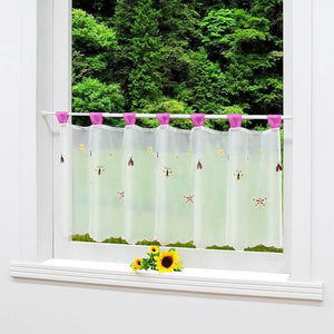 Fashion Cafe Voile Embroidered Kitchen Balcony Curtain Pastoral Style Small Cafe - Beltran's Enterprise