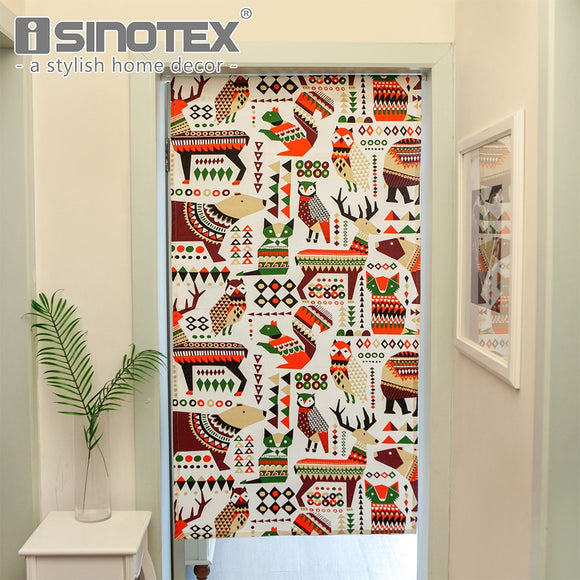 Cute Doorway Curtain Owl Elk Bear Decorative Home Kitchen Curtain European Style - Beltran's Enterprise