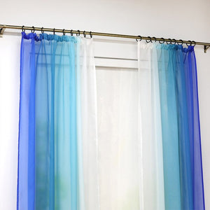 iSINOTEX Window Curtain Gradient Color Transparent Sheer Tulle Voile Fabric Living Room - Beltran's Enterprise