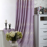 Embroidered Curtain Withr Rural branch Type Multicolor Embroidery French Window - Beltran's Enterprise