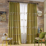 luxury Embroidered curtains Water-soluble gold curtain curtain on living room - Beltran's Enterprise