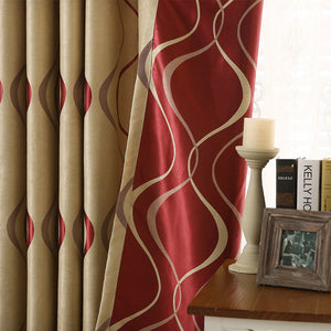 Thick Luxury Wavy Striped Curtain Design for Living Room Bedroom Home Decoration - Beltran's Enterprise