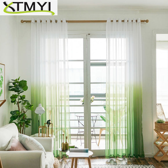 Tulle Curtains 3d Printed Kitchen Decorations Window Treatments American Living Room - Beltran's Enterprise