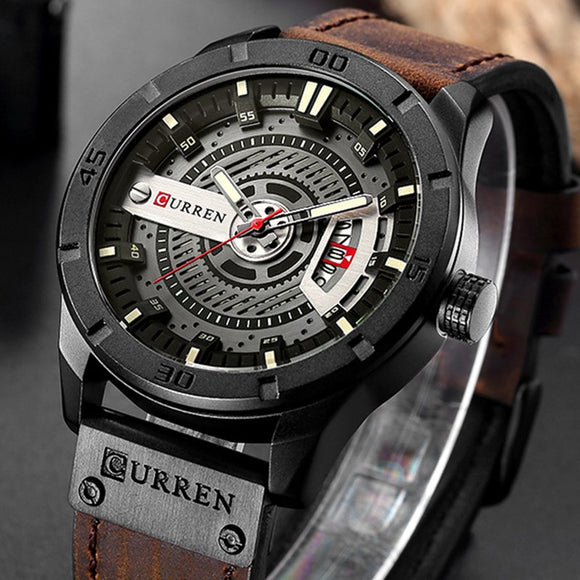 Relogio Masculino CURREN Mens Watches Top Brand Luxury Leather Fashion Casual - Beltran's Enterprise