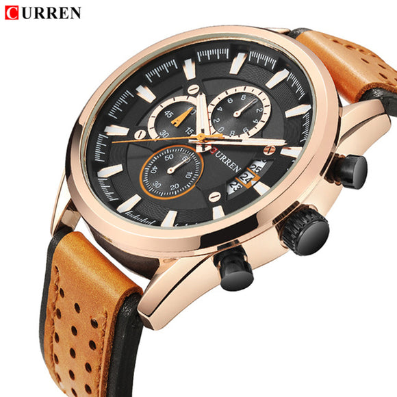 CURREN 8290 Luxury Watch Men Fashion Gold Quartz Watches Men's Waterproof - Beltran's Enterprise